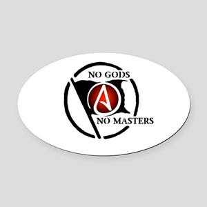 No Gods No Masters Oval Car Magnet