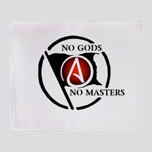 No Gods No Masters Throw Blanket