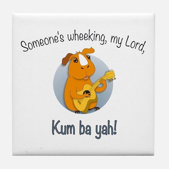 Kumbaya Guinea Pig Tile Coaster