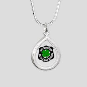 Irish Police Officers Silver Teardrop Necklace
