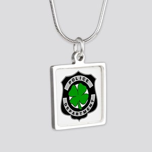 Irish Police Officers Silver Square Necklace