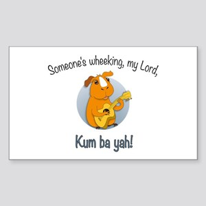 Kumbaya Guinea Pig Sticker (Rectangle)