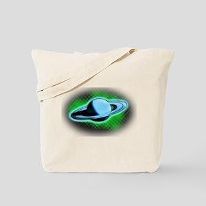 Flying Saturn Tote Bag