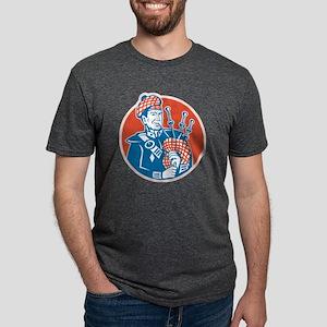 Scotsman Scottish Bagpiper  Mens Tri-blend T-Shirt