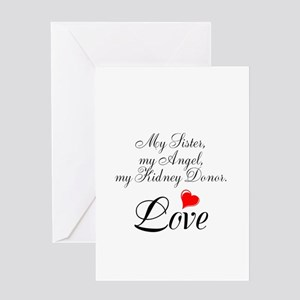 Kidney donor greeting cards cafepress my sister my angel greeting card m4hsunfo
