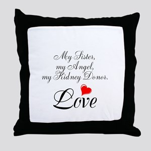 My Sister, my Angel Throw Pillow