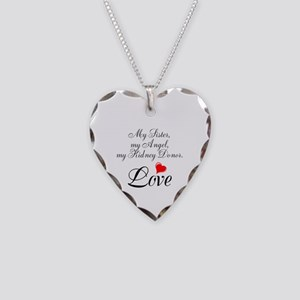 My Sister, my Angel Necklace Heart Charm