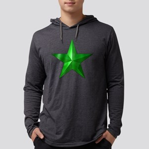 GreenStarButton Mens Hooded Shirt