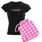 Breast Cancer Women's Dark Pajamas