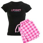 Breast Cancer Women's Dark Pajamas