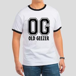 OG - Old Geezer Ringer T