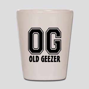 OG - Old Geezer Shot Glass