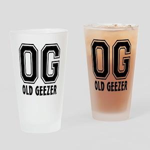 OG - Old Geezer Drinking Glass