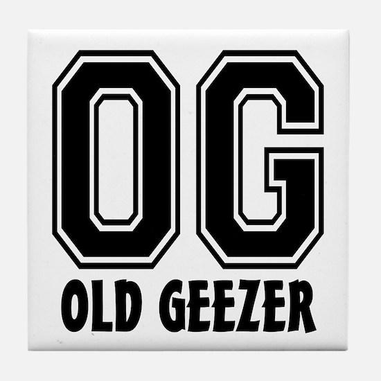 OG - Old Geezer Tile Coaster