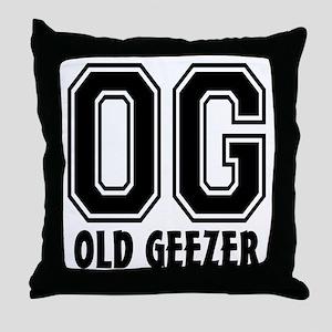OG - Old Geezer Throw Pillow