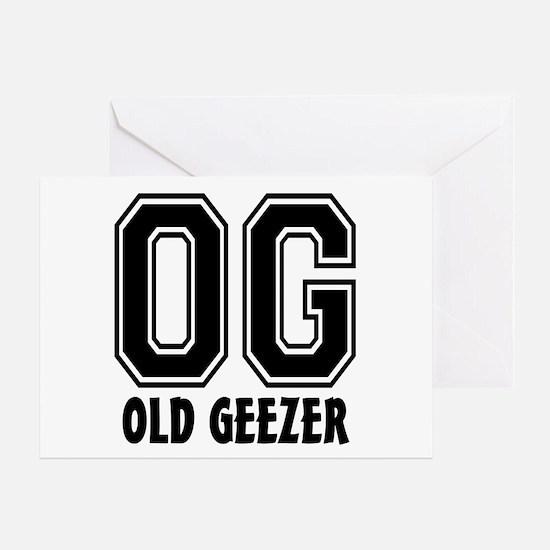 OG - Old Geezer Greeting Card