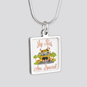 School bus driver Silver Square Necklace
