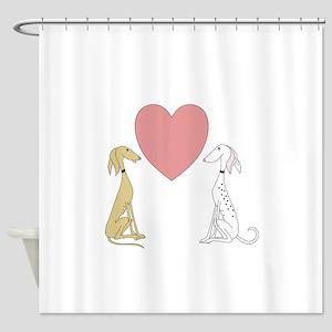 Greyhound Love Shower Curtain