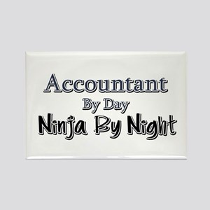 Accountant by Day Ninja by Night Rectangle Magnet
