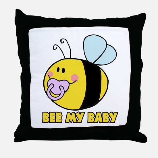 bee my baby cute baby bumble bee Throw Pillow