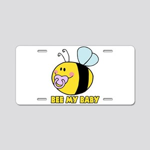 bee my baby cute baby bumble bee Aluminum License