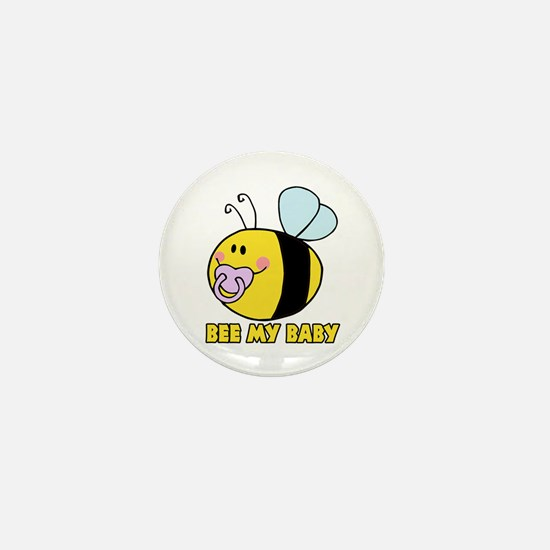 bee my baby cute baby bumble bee Mini Button