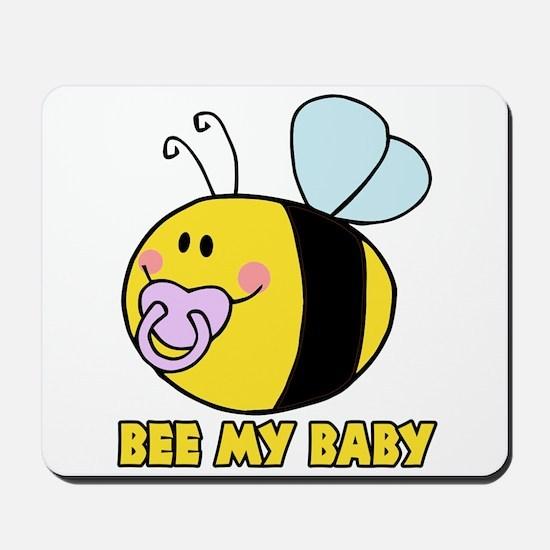 bee my baby cute baby bumble bee Mousepad