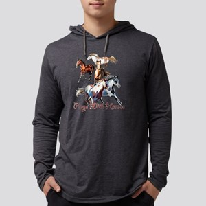 Plays With Horses Mens Hooded Shirt