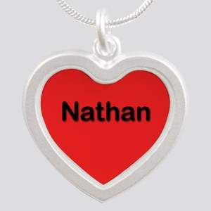 Nathan Red Silver Heart Necklace