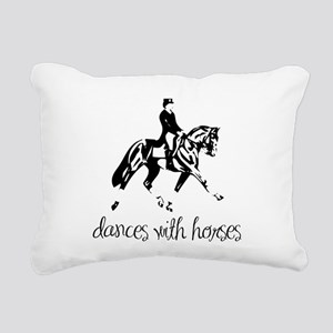 dressage dances with horses black Rectangular