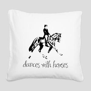 dressage dances with horses black Square Canva