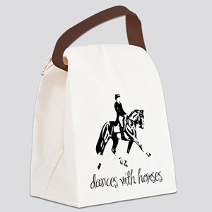 dressage dances with horses black Canvas Lunch