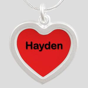 Hayden Red Silver Heart Necklace