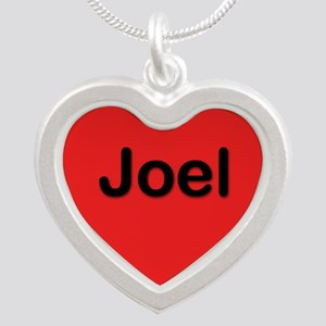 Joel Red Silver Heart Necklace