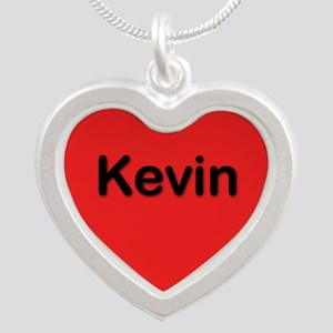 Kevin Red Silver Heart Necklace