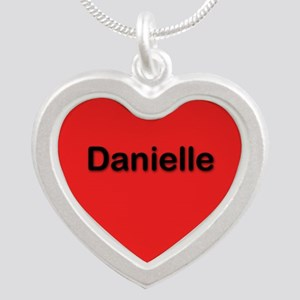 Danielle Red Silver Heart Necklace