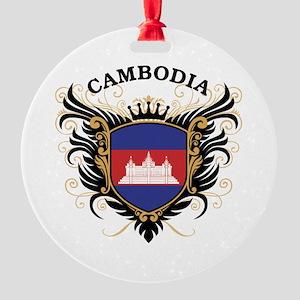Cambodia Round Ornament