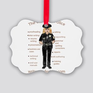 Grammar Police Picture Ornament