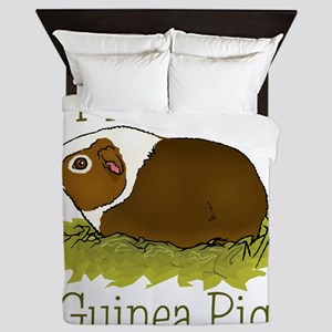I Love my Guinea Pig Queen Duvet