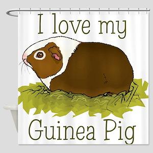 I Love my Guinea Pig Shower Curtain