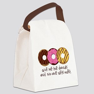 I love donuts! Canvas Lunch Bag