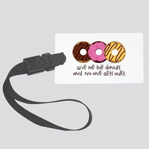 I love donuts! Large Luggage Tag