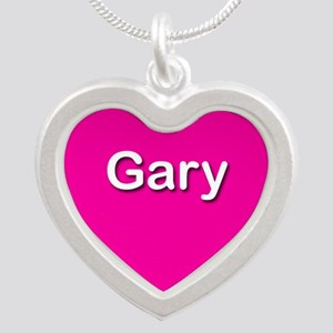 Gary Pink Silver Heart Necklace