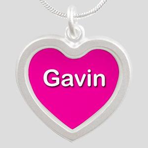 Gavin Pink Silver Heart Necklace