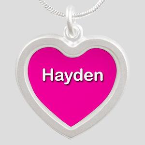 Hayden Pink Silver Heart Necklace