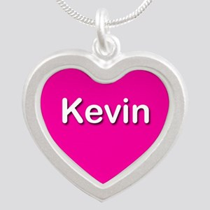 Kevin Pink Silver Heart Necklace
