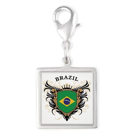 Brazil Silver Square Charm