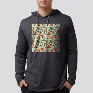 Cute Woodland Animals Pattern Mens Hooded Shirt