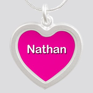 Nathan Pink Silver Heart Necklace