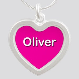 Oliver Pink Silver Heart Necklace